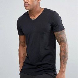 V-Neck T-Shirts Wholesale Bangladesh Import Plain Black T Shirts