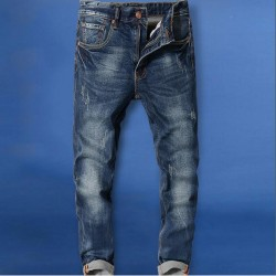 Men Slim Jeans Male 100% Cotton Denim Jeans Pants