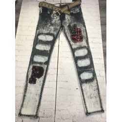 Men′s Brushed Denim Pants Jeans