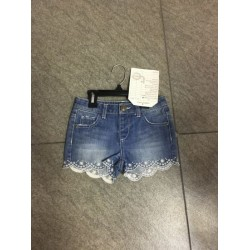 100%Cotton Women Fashion Denim short with Embroidery
