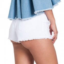 Wholesale Denim High Waist Ripped shorts for Women