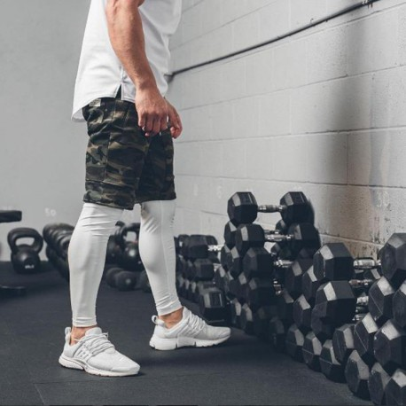 Jogger Sweat Shorts Custom Fitness Camo Army Green Gym Shorts Pants