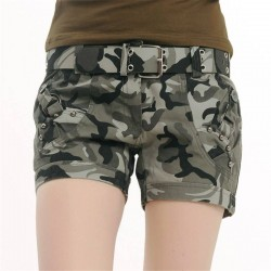 Women Shorts Camouflage Print