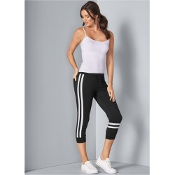 STRIPE DETAIL LOUNGE CAPRIS