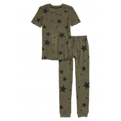 Print Fitted Two-Piece Pajamas