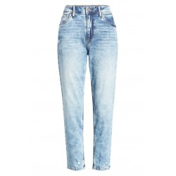 High Rise Straight Leg Capri Jeans