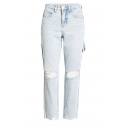Ripped Straight Leg Carpenter Jeans
