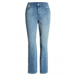 Side Slit Slim Straight Jeans