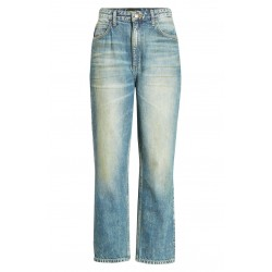High Waist Ankle Straight Leg Jeans