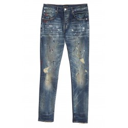 Distress Paint Spatter Jeans