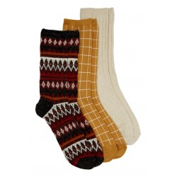 3-Pack Metallic Mix Trouser Socks