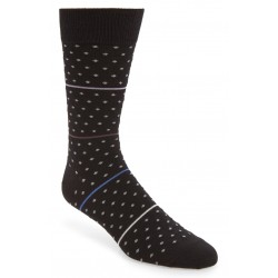 Ultra Soft Dot Stripe Dress Socks
