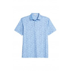 Beach Print Stretch Jersey Polo