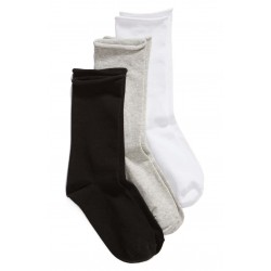 Everyday Roll Top 3-Pack Crew Socks
