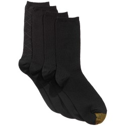Womens 4 Pack Textured Crew Socks