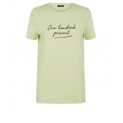 Yellow Neon Slogan T-Shirt
