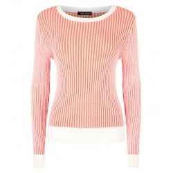 Orange Plait Stitch Jumper