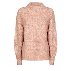 Pink Rainbow Twist Knit Crew Neck Jumper