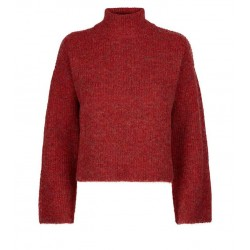 Red Flare Sleeve Boxy Jumper