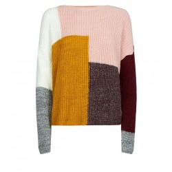 Multicoloured Patchwork Knit Jumper