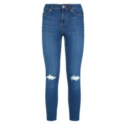 Blue Ripped Mid Rise Skinny Jena Jeans