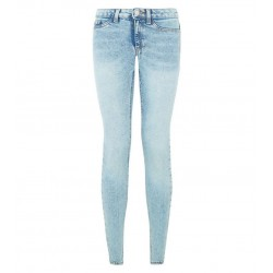 Blue Ripped High Waist Super Skinny  Jeans