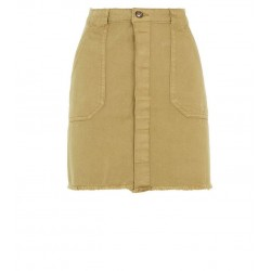 Khaki Utility Denim Skirt