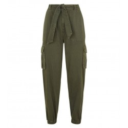 Khaki Denim Utility Trousers