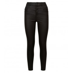 Black Coated High Waist Skinny  Jeans