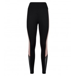 Black Colour Block Mesh Sports Leggings