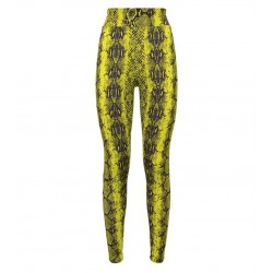 Yellow Neon Leopard Print Leggings