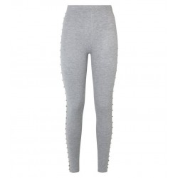Grey Side Stud Leggings