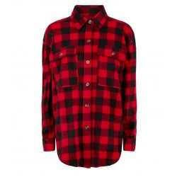 Red Check Fleece Jacket