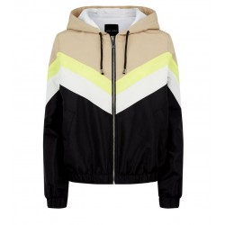 Camel Neon Colour Block Fleece Lined Windbreaker