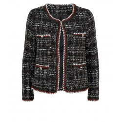 Black Bouclé Tweed 4 Pocket Jacket