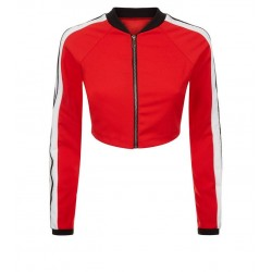 Red Stripe Side Jacket