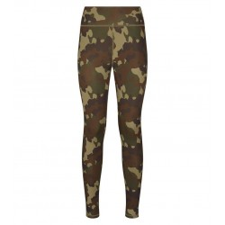Khaki Camo Print Sports Leggings