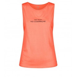 Pink No Pain No Champagne Sports Vest