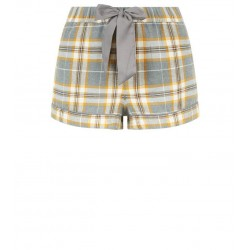 Mustard Check Flannel Pyjama Shorts