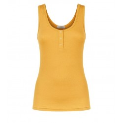 Mustard Popper Placket Pyjama Vest