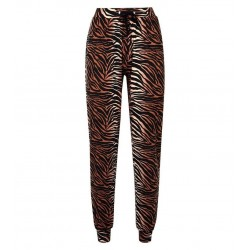 Brown Soft Touch Tiger Print Joggers