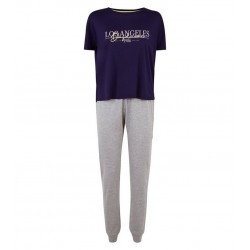 Navy Los Angeles Jersey Jogger Pyjama Set