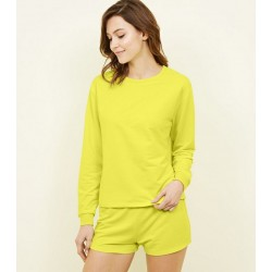 Yellow Neon Jersey Lounge Set