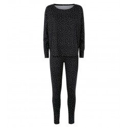 Black Spot Soft Touch Pyjama Set
