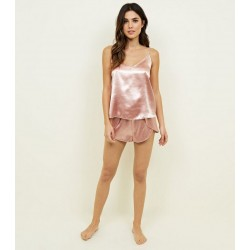 Satin Cami and Shorts Pyjama Set