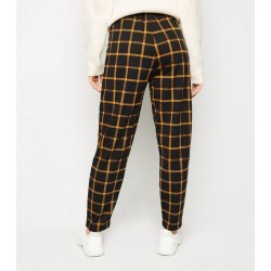 Black Grid Check Trousers