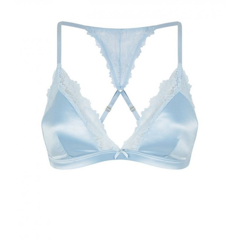f89e01e1c0 ... Pale Blue Satin Padded Triangle Bra